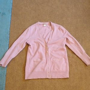 J. Crew Lilac Purple Cashmere Cardigan Sweater